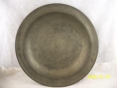 Antique American 18th Century Pewter Charger by Jacob Whitmore Mioddletown Ct.