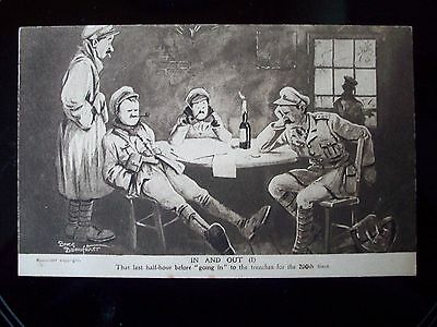 Old Bill Postcard by Bruce Bainsfather   In and Out (1)