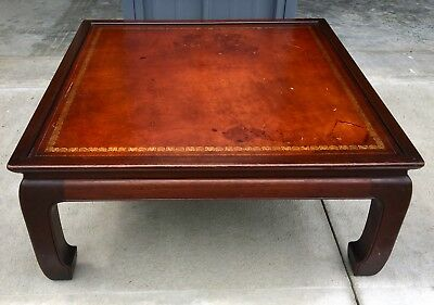 VINTAGE HERITAGE Henredon Mahogany Asian Style Cocktail Table