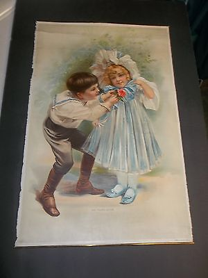 vintage star soap schultz lithograph advertising THE YOUNG LOVER panel 53