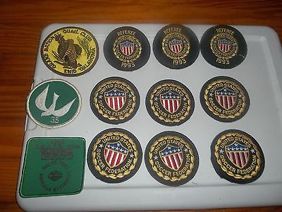 USSF SOCCER PATCHES grand national quail club Enid OK referee peace dove