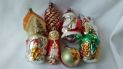 Lot of VINTAGE Mercury and Glass Christmas Ornaments