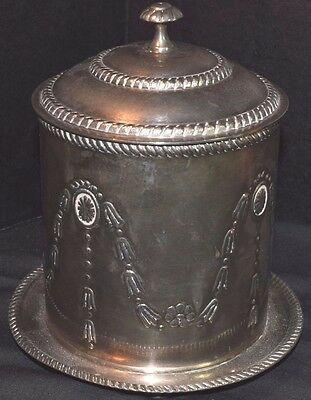 Vintage Silverplated English Biscuit Barrel