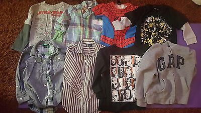 Job Lot of Boys Clothes, Tops Shirts Age 4-5 Years GAP M&S H&M Star Wars