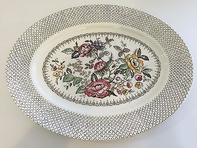 "Myott Son & Co Hanley ""Swing Time"" England Oval Serving Plate, 14 1/2"" x 11 1/2"""