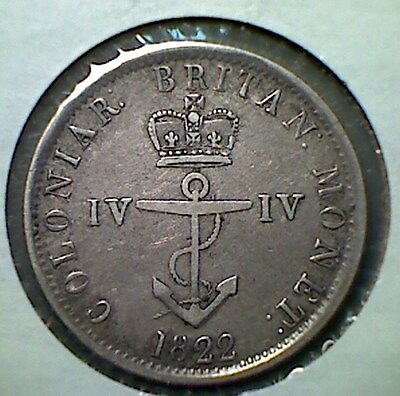 1822 British west indies 25c Anchor money