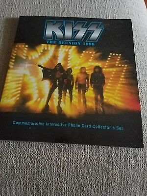 Kiss:set of 6 collectable phone cards 1996 THE REUNION 25$$$ CARDS