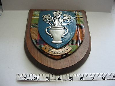 Dundee Scottish Plaque Heraldic Woodcarvers to the Scottish Council