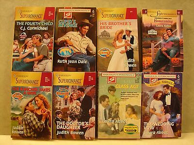 Mixed lot of 8 Romance,See list for Authors & Condition, Paperback Books,   (A)
