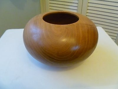 Beautiful Turned Elm Wooden Bowl.