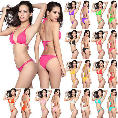 Women Push-up 2 Pieces Bikini Set Swimwear Bra Bandage Swimsuit Bathing Suit