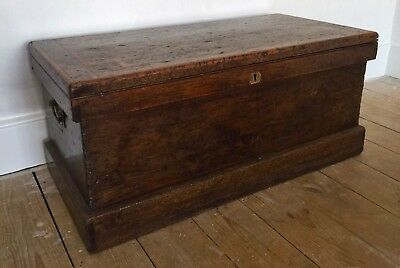Large Antique Waxed Pine Victorian Sea Chest.  •collection Only •