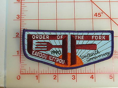 OA Lodge Order Of The Fork 1990 NOAC spoof flap patch  (rN)