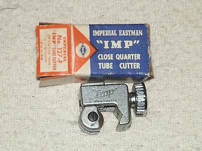 "Imperial Eastman ""IMP"" Tube CUTTER #127-F w/BOX 1/8"" to 1/2"" O.D. USA"