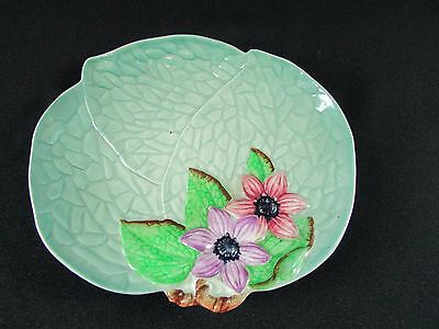 Carlton Ware Relief Modeled Hand Painted Shaped Dish c.1950-61