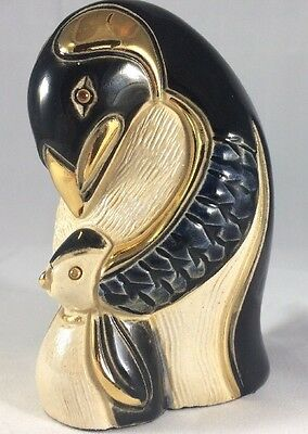 """4"""" Mother and Baby Penguin Statue Figure Hand Made"""