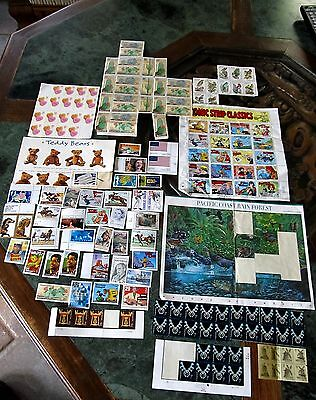 US Postage Stamps Face Value $36.45 Unused Mixed Lot USA