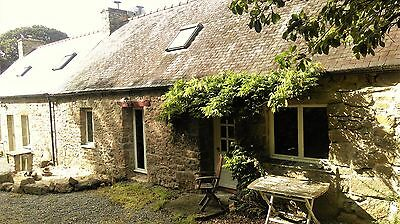 Beautiful Detached Rural Cottage For Long Term Rental In Lanrivain Brittany