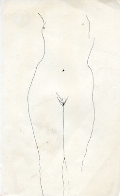 Barbara Dorf - Mid 20th Century Pen and Ink Drawing, Nude Figure