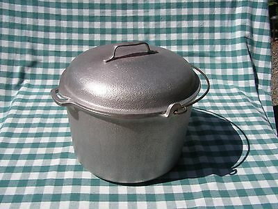 Nice Vintage Silver Seal Pre Club Hammered Aluminum Large 12 QT Stock Pot