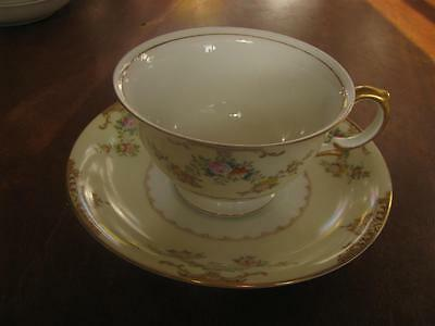 MEITO China Hand Painted Cup and Saucer Made in Japan
