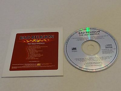 BAD RELIGION The New America RARE U.S. Advance PROMO CD 2000 Punk Rock 13 Tracks