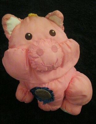 Vintage 1997 Fisher Price Puffalumps  Puffalump Pink Pig As Is