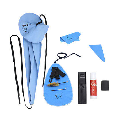 10 in 1 Saxophone Cleaning Care Kit Belt Cork Grease Thumb Rest Reed Cloth New