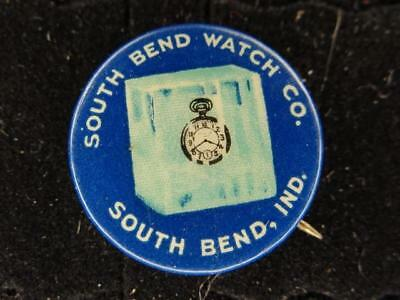 South Bend Watch Co. South Bend Indiana Celluloid Pinback T-5