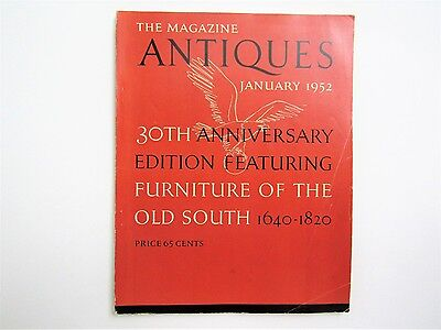 Furniture Of The Old South 1640-1820 Magazine ANTIQUES 1952, southern