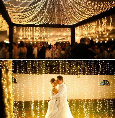 Warm White 10-100M Fairy 100-1000LED Indoor Outdoor Xmas Party String Light Lamp