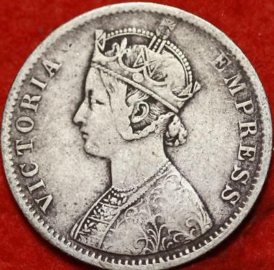 1887 India Rupee Silver Foreign Coin Free S/H