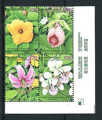 South Korea 2000 Protection of Wildlife and Plants (7th series) MNH
