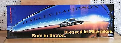 FORD F-150 Born In Detroit HARLEY DAVIDSON Dressed In Milwaukee PROMO POSTER vg