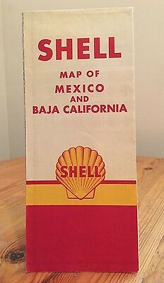 Shell Map of Mexico and Baja California1950's