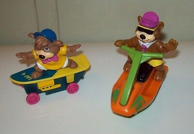 2 Rare Vintage Toys,YOGI BEAR & BOO BOO Collectibles,Yogi Friction Power JET SKI