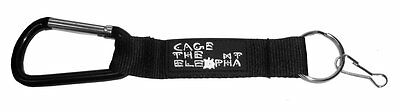 Cage The Elephant Black Caribiner Clip White Name Logo Key Chain New Official