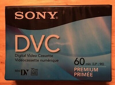 SONY Mini DV Digital Video Cassette DVC 60min  Premium Tapes