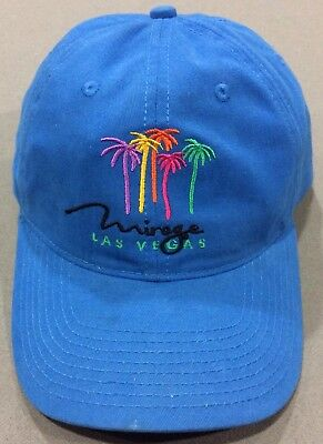 Vintage Blue Mirage Hotel Casino Las Vegas Adjustable Cotton Cap