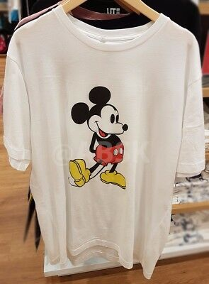 6a97e33c8efbf Uniqlo MEN Disney Mickey Mouse Stands Short Sleeve Graphic T-Shirt 195524  White