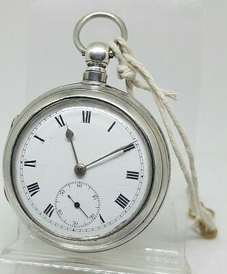 Antique solid silver pair cased James Budge Keith pocket watch 1889 working