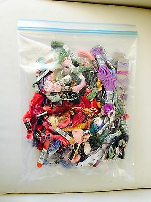 Vintage Bulk Lot of Approx 70 Embroidery Threads Cotton Anchor DMC Coats