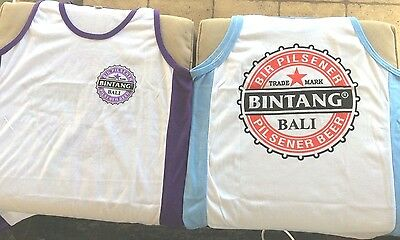 Bintang Beer Bali Singlets - Size Large - Range of Colours