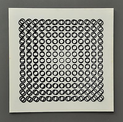 Victor Vasarely OEUVRES PROFONDES CINÉTIQUES VIII 1973 Op-Art Print 3-D 3D 27x27