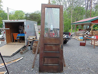 "Early Antique Tall Victorian Bevel-Glass Front Door Size 99"" X 34"""