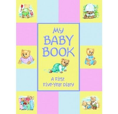 My Baby Book First Five Year Diary Padded Keepsake New Shower Gift Boy Girl