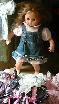 Zapf Creation Doll Brunette Brown Eyes 15 Inches Nice!