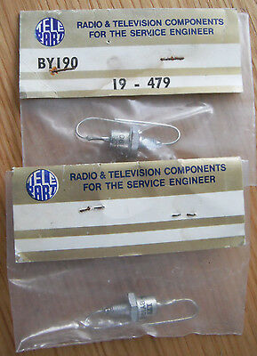 BY190  ITT  vintage metal diodes X 2.. nos electronic component for tv