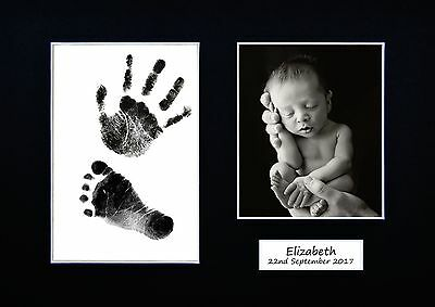 Personalized Newborn Hand print Footprint Kit Baby Shower Gift Christening