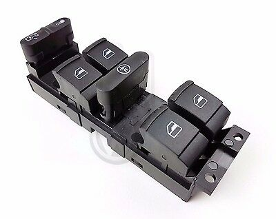 Vw Golf Mk4 [1998-2004] Front Drivers Right Window Switch Pack 4 Door 1J4959857D
